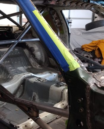 dimple die gussets on the s14 roll cage